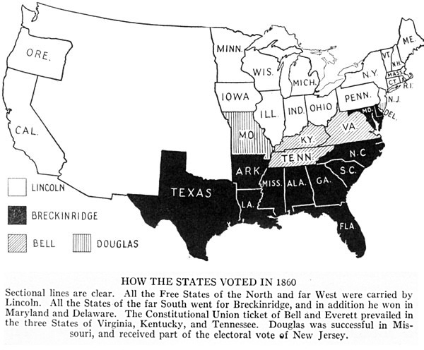 How the States Voted in 1860