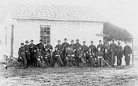 Officers, 4th U.S. Colored Infantry, Fort Slocum, April 1865