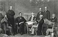 First Reading of the Emancipation Proclamation before the Cabinet