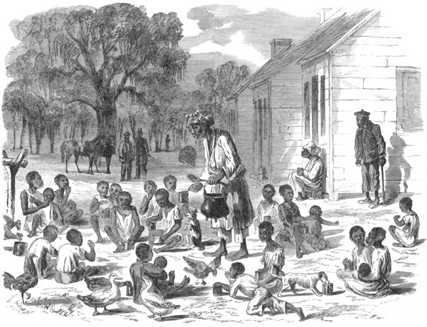 Children being fed at Hilton Head, South Carolina, who are under the military authorities