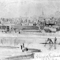 View of burned district of Richmond