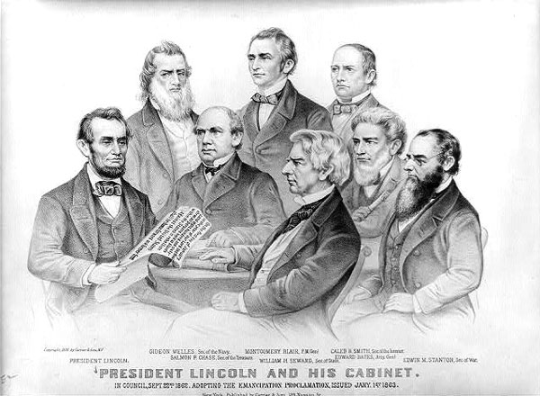 President Lincoln and his cabinet