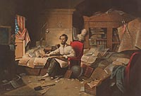 President Lincoln Writing the Proclamation of Freedom