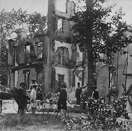 Ruins of P. M. Gen'l M. Blair's residence