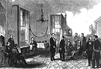 President-elect Lincoln Receiving Visitors in the State House