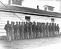 Company E, 4th US Colored Infantry at Fort Lincoln