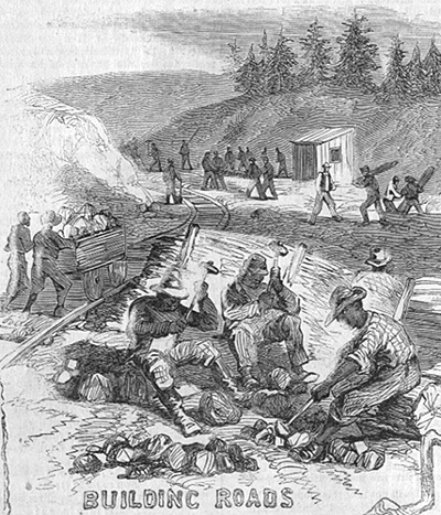 Black Troops Building Roads