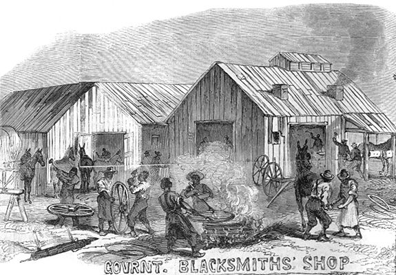 Black Troops, Government Blacksmiths' Shop