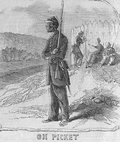 Black Troops on Picket