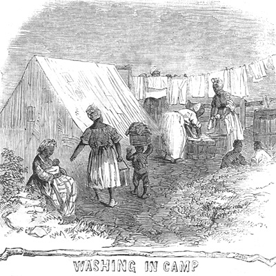 Black Troops, Washing in Camp