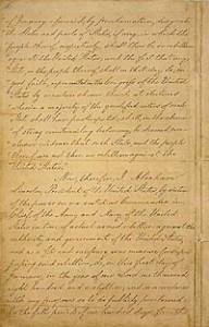 Manuscript of the Final Emancipation Proclamation, Page 2