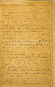 Manuscript of the Final Emancipation Proclamation, Page 4