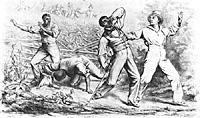 Four black men possibly Freedmen, ambushed by armed white men