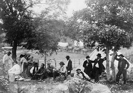 Gettysburg, Camp of Captain Huft, July 1865