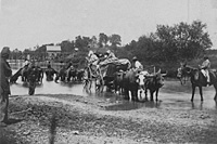 Wagon fording the Rappahannock River