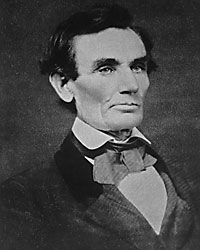 Abraham Lincoln in Urbana, Illinois, April 25, 1858