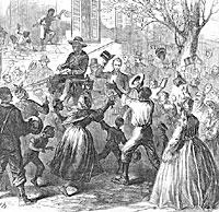 President Lincoln Riding Through Richmond, April 4, 1865