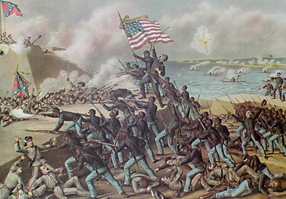 Massachusetts 54th Storming Fort Wagner