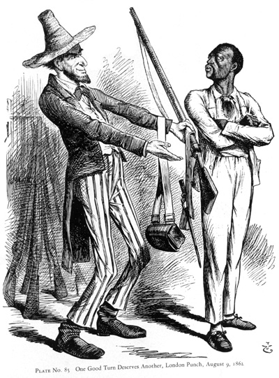Black Recruit and Abraham Lincoln