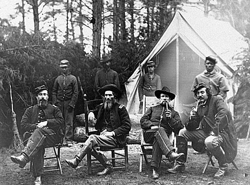 Capt. J.M. Robertson and staff, Brandy Station, Va. Feb. 1864