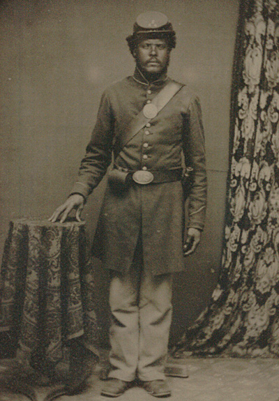 Black Private Co !, 54th Mass. Infantry, 1863 ca