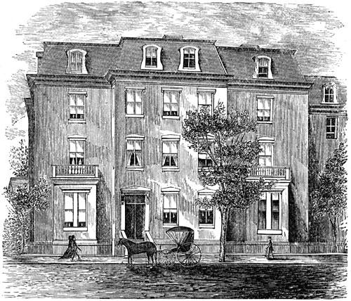 Charles Sumner's Washington Residence